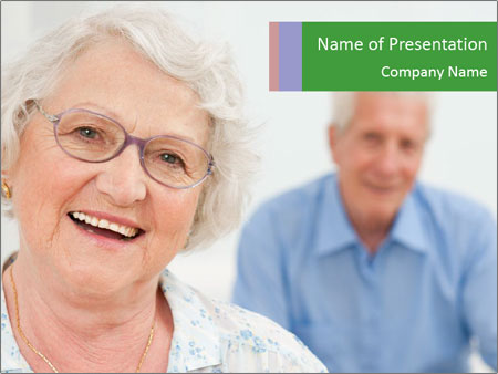 Smiling Retired Couple PowerPoint Template