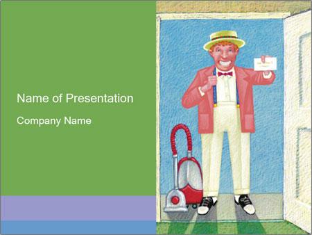 Famous Cartoon Man PowerPoint Template