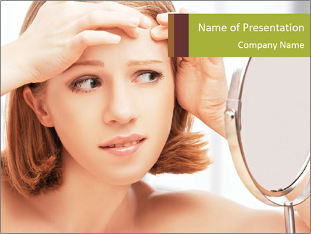 Young Lady With Pimples PowerPoint Template