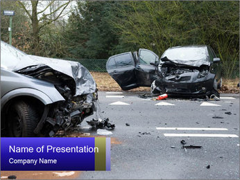 Bad Car Crash PowerPoint Template