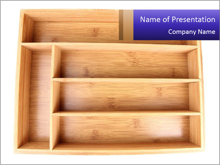 Wooden Book Shelf PowerPoint Template