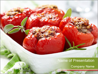Grilled Filled Paprika PowerPoint Template