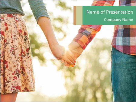 Teenagers In Love PowerPoint Template