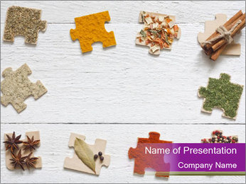 Spices Puzzle PowerPoint Template