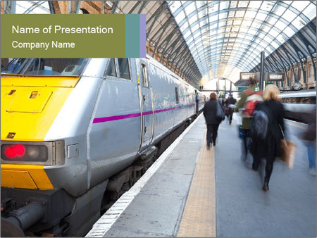 Urban Railway Station PowerPoint Template