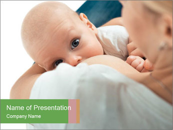 Sweet Breastfeeding Moment PowerPoint Template