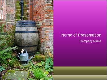 Barrel In Backyard PowerPoint Template