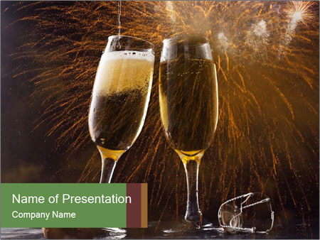 Romantic Evening With Champagne PowerPoint Template