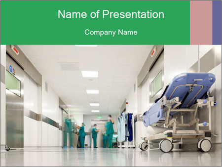 Hospital Hallway Powerpoint Template Infographics Slides