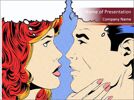 Comic Pop Art Powerpoint Template Infographics Slides