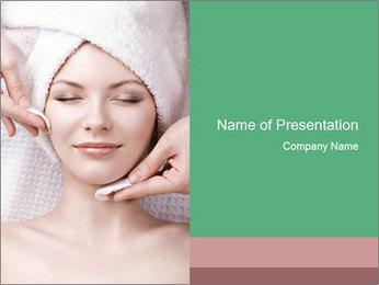 Facial massage PowerPoint Template