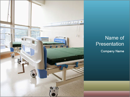 New Hospital Room Powerpoint Template Infographics Slides