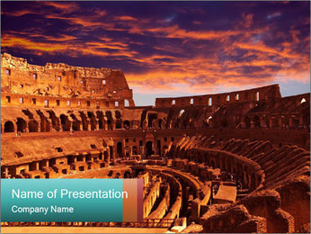 Ancient Colosseum PowerPoint Template