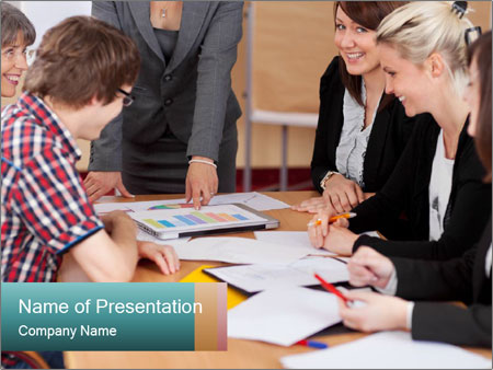 Diverse group PowerPoint Template