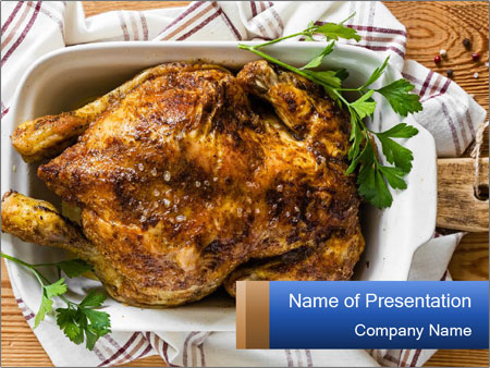 Roasted chicken PowerPoint Template
