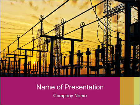 Impression network PowerPoint Template