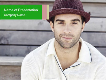 Mid adult man PowerPoint Template