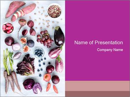 Collection of fresh purple PowerPoint Template
