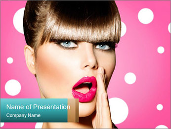 Surprised Woman PowerPoint Template