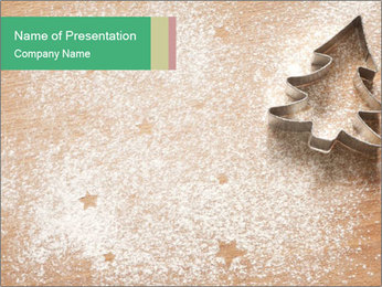 Abstract Christmas food PowerPoint Template