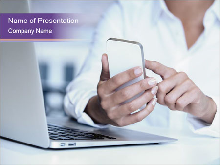Woman hands PowerPoint Template