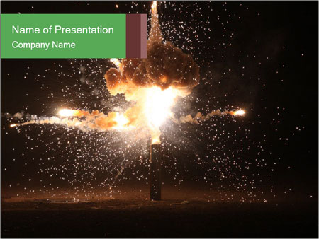 Explosion in the old hall PowerPoint Template