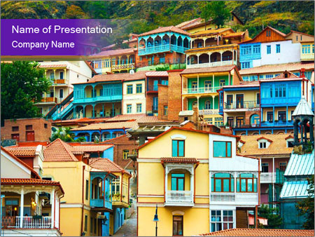 View of Tbilisi PowerPoint Template