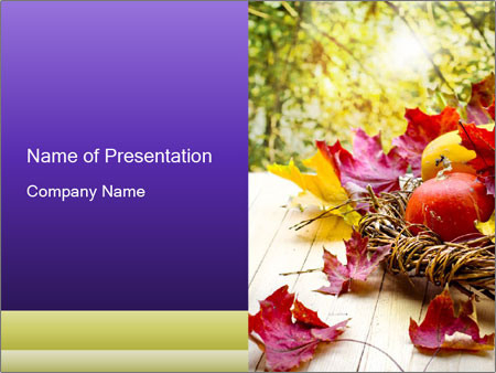 Thanksgiving Day Powerpoint Template Infographics Slides