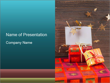 Different gifts for christmas PowerPoint Template