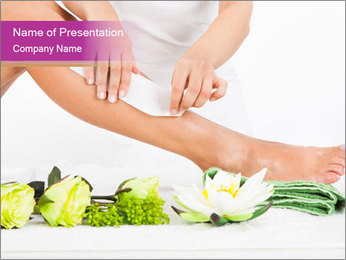 Woman's Leg In Spa PowerPoint šablony