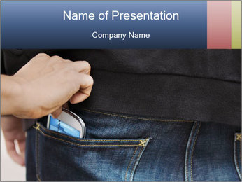Thief stealing mobile phone PowerPoint Template