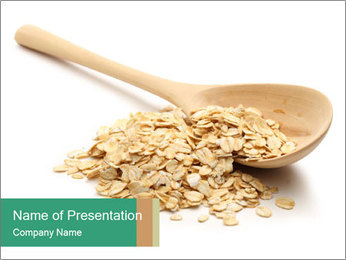 Heap of rolled oats PowerPoint Template