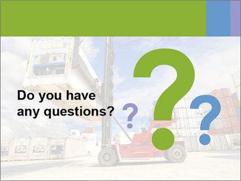 Forklift handling PowerPoint Template