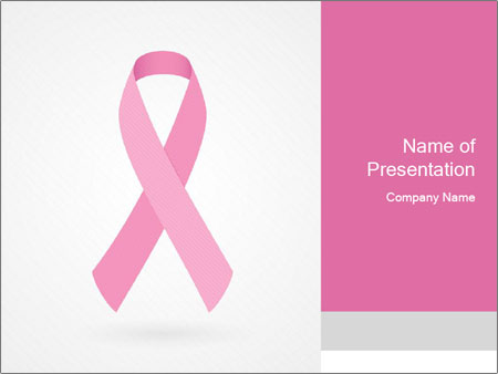 Ribbon Of Breast Cancer Powerpoint Template Backgrounds Google
