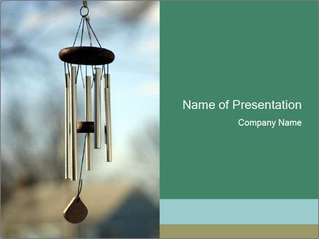 A Wind chime Sjablonen PowerPoint presentatie