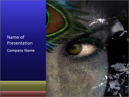 Goddess eye PowerPoint Template