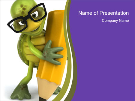 Fun turtle PowerPoint Template