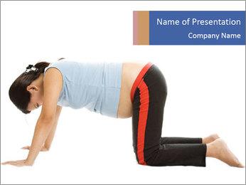 Woman exercising Szablony prezentacji PowerPoint