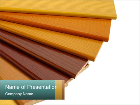 Color wood samples PowerPoint Template