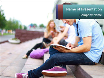 Man read book PowerPoint Template