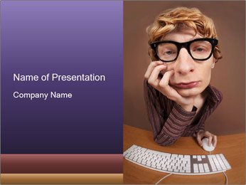 Bored office worker PowerPoint Template