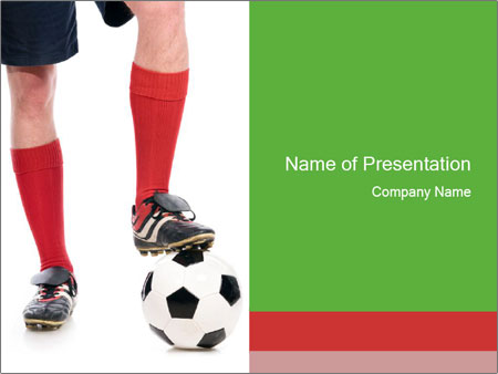 Legs of soccer player PowerPoint šablony
