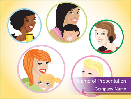 Group of women PowerPoint Template