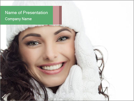 Warm clothing PowerPoint Template