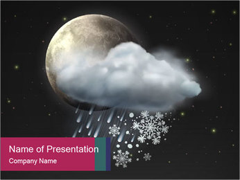 Night sky PowerPoint Template