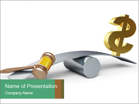 Justice or money PowerPoint Template