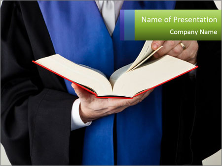 Law book PowerPoint Template