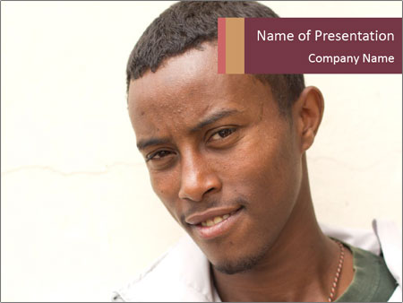 Ethiopian man PowerPoint Template