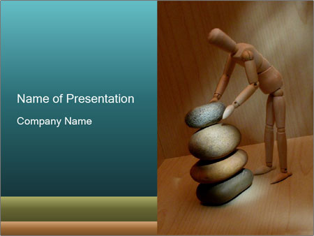 Mannequin stacking stones PowerPoint Template