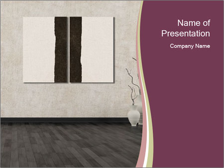 Empty grunge interior PowerPoint Template